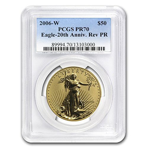 2006 Reverse Proof (2006 W 1 oz Reverse Proof Gold American Eagle PR-70 PCGS 1 OZ PR-70 PCGS)