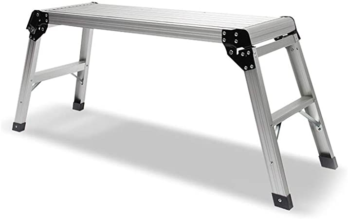 LGQ-JJU Taburete Plegable De Banco Escalonado, Taburete Multipropósito De 2 Escalones Plataforma De Trabajo Liviana Escalera De Aluminio, 150 Kg Máx. (Size : 91.5X30X50CM): Amazon.es: Hogar