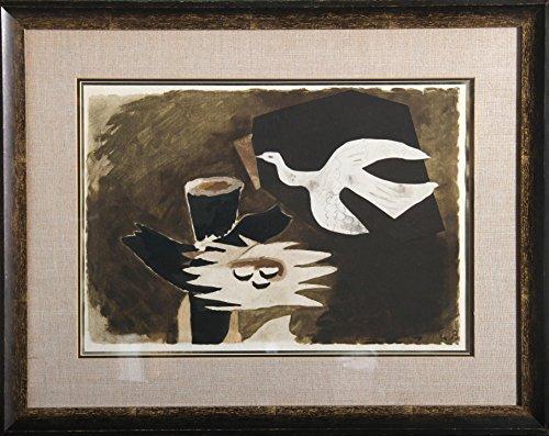 L'oiseau et son Nid - Braque Lithograph