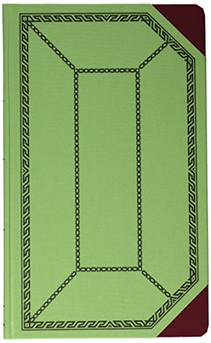 Boorum & Pease 6718150J Record/account book, green/red cover, journal rule, 12-1/2 x 7-5/8, 150 pages by Boorum & Pease