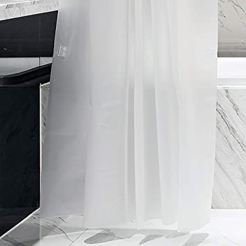 Bumbomi Translucent Shower Curtain PEVA Thickening Bath Curtains Waterproof And Mildew Proof