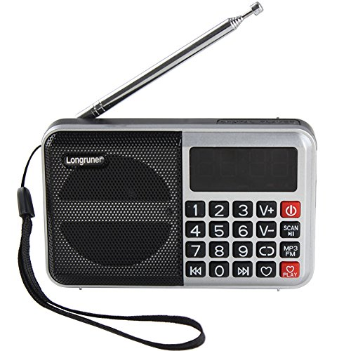 Longruner Portable Fm Radio USB Mini Speakers Mp3 Music Player Tf Card Reader (L63) (Radios Para Autos Sony compare prices)