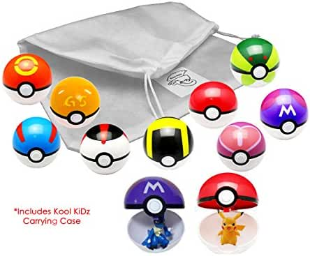 Kool KiDz 9 Pieces Different Style Ball +9 Pieces Figures Plastic Super Anime Figures Balls for Pokemon Kids Toys Balls