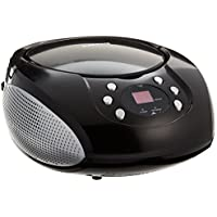 Craig Portable CD Boombox with AM/FM Radio, Black (CD6918)