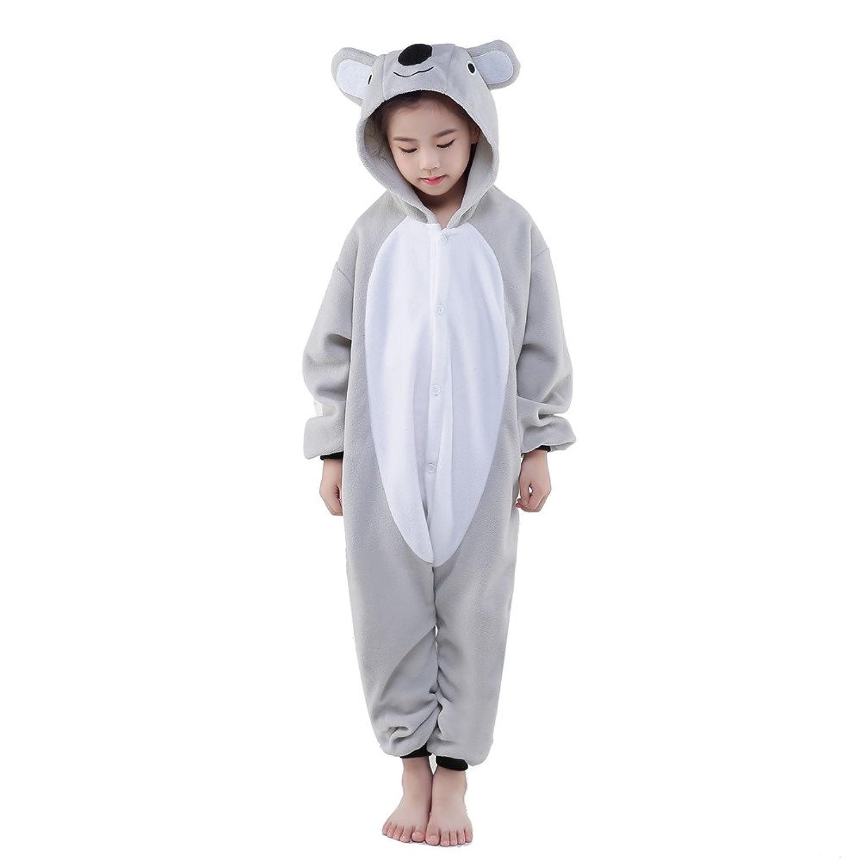 Newcosplay Unisex Children Gray Koala Pyjamas Halloween Costume