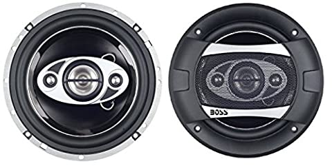 BOSS Audio P65.4C 400 Watt (Per Pair), 6.5 Inch, Full Range, 4 Way Car Speakers (Sold in Pairs) (2006 Toyota Sequoia Speakers)