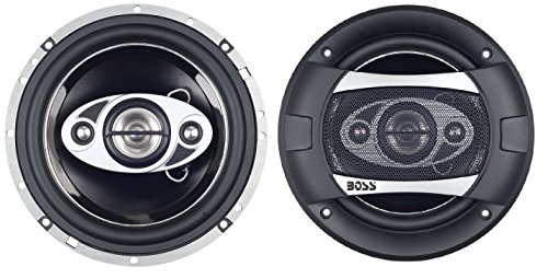 Boss Audio SK694 P65.4C 400 Watt (Per Pair), 6.5 Inch, Full Range, 4 Way Car Speakers (Sold in Pairs) (2004 Honda Civic A/c)