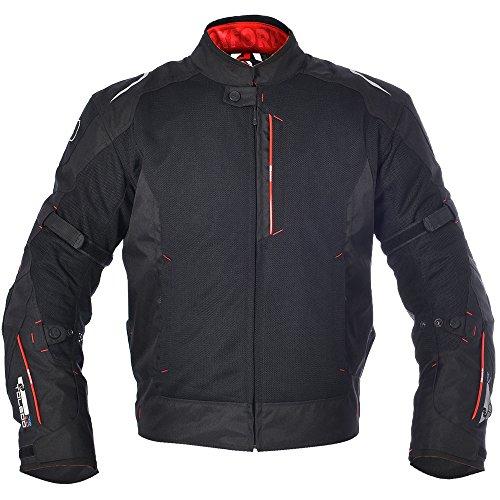 Oxfords Toledo (Oxford Toledo 1.0 Air Men's Textile Short Motorcycle Jacket - Tech Black M/40)