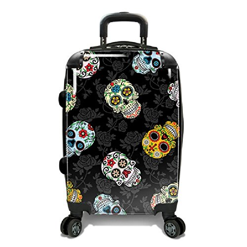 Colorful Sugar Skulls Print Travel Luggage My Sugar Skulls