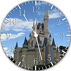 Borderless Cinderella Castle Frameless Wall Clock Z125 Nice for Decor Or Gifts