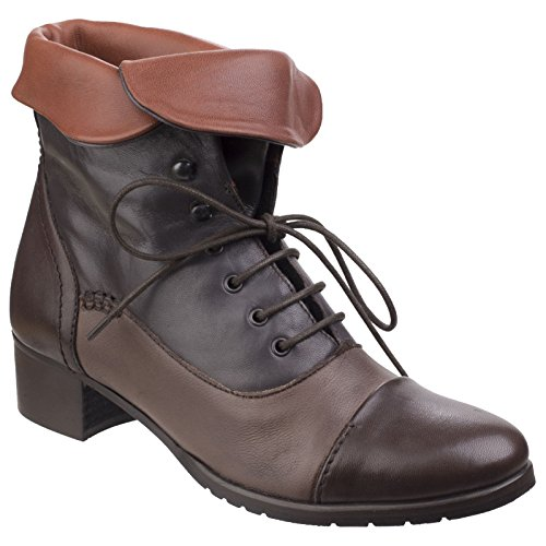 Bordo Boots Brown Lilli Womens Ankle Gray Riva Ladies PYIAU