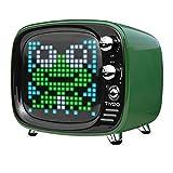 Divoom Tivoo Timebox Bluetooth Speaker Smart Portable Sleep-aid Alarm Clock LED APP Control Pixel Art Creation Animation LED Bluetooth Speaker (Green)