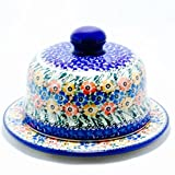 Ceramika Artystyczna Polish Pottery Dish with Cover Hand Made and Painted in Poland Unikat Design