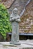 Campania International R-102-AL St Francis Statue, 14″, Aged Limestone Finish For Sale