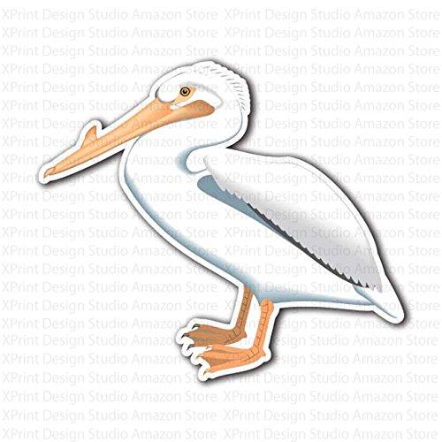 White Pelican Bird Sticker