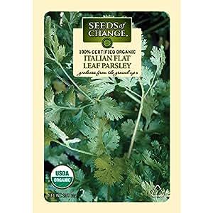 Seeds of Change Certified Organic Parsley, Italian Flat Leaf - 250 milligrams, 150 Seeds Pack
