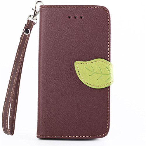 Motorola Moto G (2nd generation) Case, IVY Brown - Leaves Magnetic Snap Series Wallet Card Flip Synthetic Holster Leather Stand With Lanyard Case Cover Skin For Motorola Moto G (2nd generation)