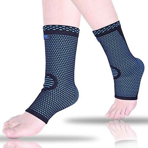 Ankle Brace Compression Sleeves for Sprain, Arthritis, Achilles Tendonitis,...
