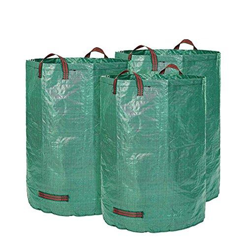 YAOBAO Bolso del Jardín 3-Pack, Bolsos De Jardinería Resistentes, Bolso Inútil De La Hoja del Jardín De La Piscina del...