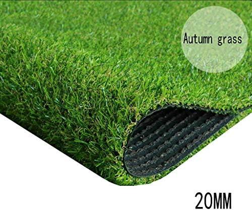 XEWNEG 20MMの緑の総合的な芝生、プラスチック人工的な草のカーペット、暗号化の幼稚園/テラス/フットボール競技場の装飾は防水し、切ること容易 (Size : 2x9M)