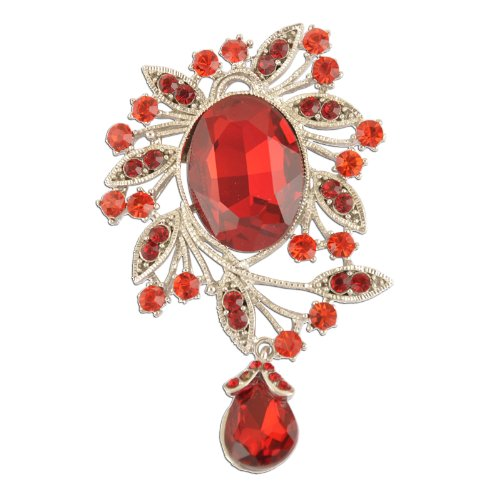 ing Fashion Red Brooch (Dangling Vintage Brooch)