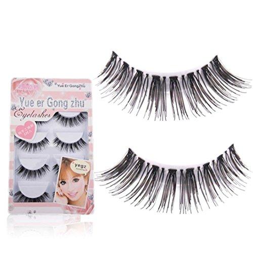 Fullkang 5 Pair/Lot Crisscross False Eyelashes Lashes Voluminous HOT eye lashes