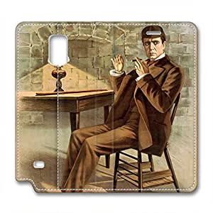 iCustomonline Sherlock Holmes PU Leather Cover for Samsung Galaxy Note 4 by mcsharks