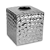 Taymor Chrome Crush Boutique Tissue Box Cover