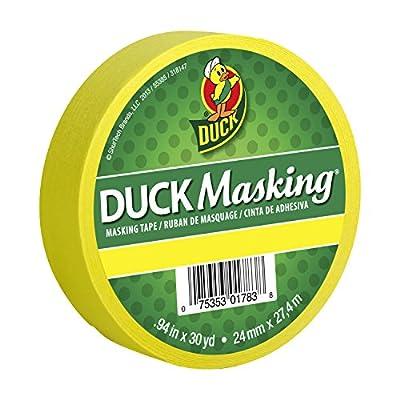 Duck 240818 Masking Tape, 0.94-Inch x 30-Yard, Red