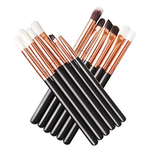 Base Maquillaje Professional Set de Brochas - RFAIKA 12 Piezas Pinceles de Maquillaje Suaves Belleza Maquillaje, Sombras de...