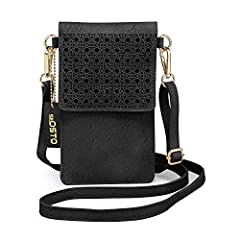 seOSTO Small Crossbody Phone Bag with 2 Shoulder Straps for WomenClear Window This iphone bag with transparent plastic back allows you to touch your phone directly and conveniently.  Special CutoutCool StylishThis Cell Phone Purse Smartphone ...