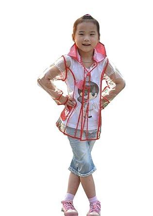 27a6373ef694 Amazon.com  Yuding Little Girls  Clear Plastic Hooded Rain Jacket ...