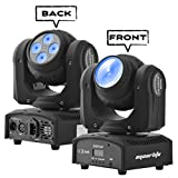 Eyourlife 1pc Moving Head Beam Light Moving Head Light Double Face 4x10w+1x10W LED Moving Head Light RGBW 4 in 1 DMX Disco Stage Light