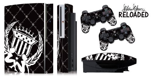 Protective skins for FAT Playstation 3 System Console, PS3 Controller skin included - SS RELOADED