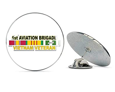19cee8ee713e1 U.S. Army 1st Aviation Brigade Vietnam Veteran Metal 0.75 quot  Lapel Hat  Pin Tie Tack Pinback
