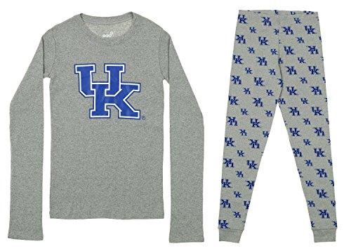 le and Big Boy's Long Sleeve Tee and Pant Sleep Set, Kentucky Wildcats Medium (10-12) ()