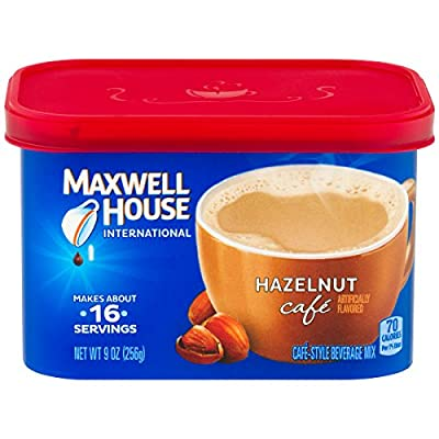 Maxwell House International Cafe Hazelnut Instant Coffee (9 oz Canisters, Pack of 4) from KraftHeinz