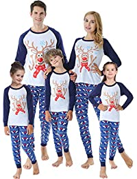 Family Matching Christmas Pajamas for Boys Girls Snowman Sleepwear Kids PJs Men Women 2 Pieces Pants Set
