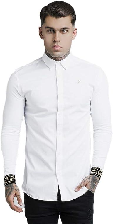 Sik Silk de los Hombres Camisa del Cartel, Blanco, L: Amazon.es: Ropa y accesorios
