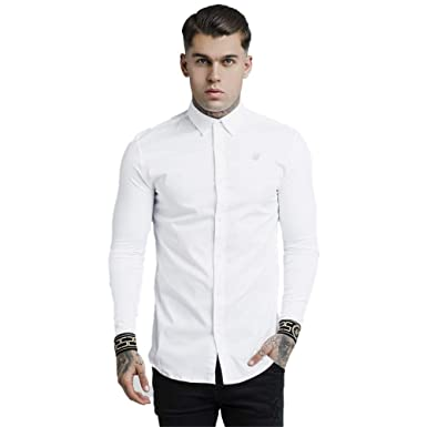 1f5e661d SIK SILK Long Sleeve Cartel Shirt White & Gold at Amazon Men's Clothing  store: