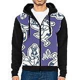 Wrestling Funny Men Print Full-Zip With Pocket Crew Neck Sweatshirts Hoodeds