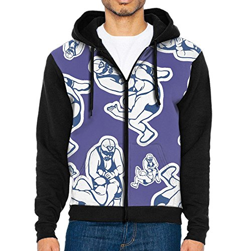 Wrestling Funny Men Print Full-Zip With Pocket Crew Neck Sweatshirts Hoodeds by Dw5 Hoodie
