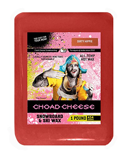 Choad Cheese Snowboard and Ski Wax, Dirty Hippie Scent, 1 Pound (Bulk Snowboard Wax compare prices)