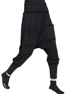 Wofupowga Men Casual Hip Hop Trousers Plaid Sports Stitching Pants