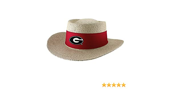 a55421f7793 Georgia Bulldogs Tournament Straw Gambler Hat at Amazon Men s Clothing  store