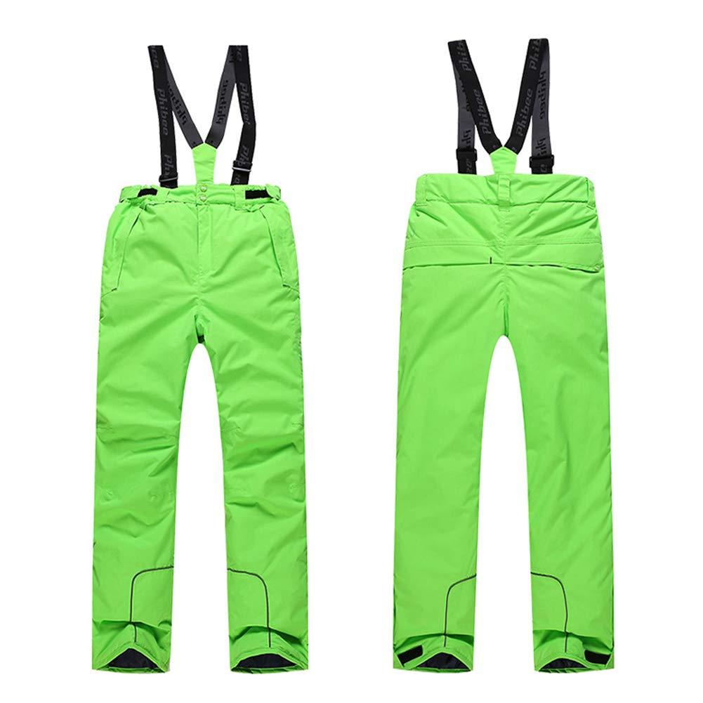 Tuta da Sci Giacca da Sci Antivento Idrorepellente Cinturini Removibili Tasche. Impermeabile Traspirante LSHEL Pantaloni da Sci per Bambini Bambino Cintura Regolabile