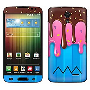 Skin Decal for LG Lucid 3 - Chocolate Strawberry Ice Cream Glass