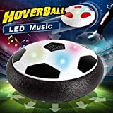 2019 New Year LED Party Music Hover Soccer Ball,Air Power Soccer with Music LED Flashing Lights,Training Football Disk Indoor Outdoor Ball Games Holiday Toys Boys Girls Birthday Christmas Party Gift