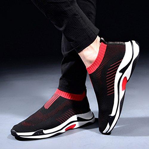 Hommes Chaussures Marée Chaussures Sauvages Chaussures De Sport Creux Mesh Panneau Chaussures Respirant Chaussures De Sport,Black,41