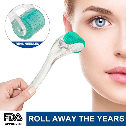 Derma Roller  25Mm  Cosmetic Needling Instrument For Face 192 Medical Grade Stainless Steel Micro Needle Skin Care Tool For Wrinkles Beauty Home Use With Storage Case